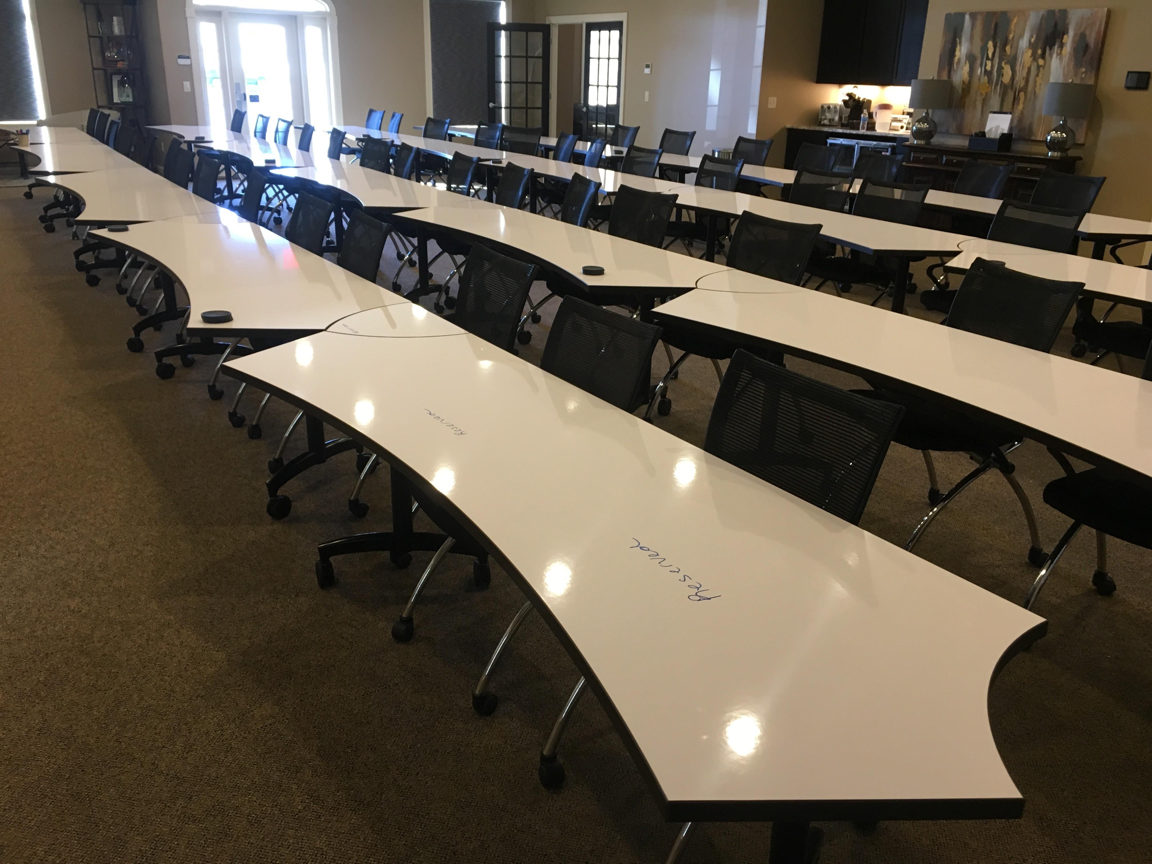 Ambassador Training Tables Lecture Configuration